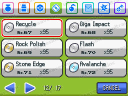 Pokemon SoulSilver Items